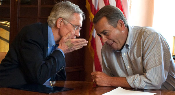 Harry Reid and John Boehner