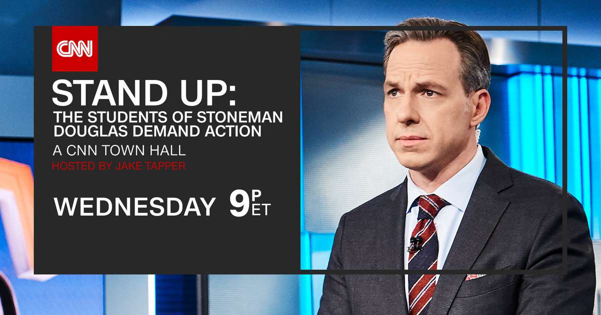 """CNN's town hall """"Stand Up: The Students of Stoneman Douglas Demand Action""""#GunControl"""